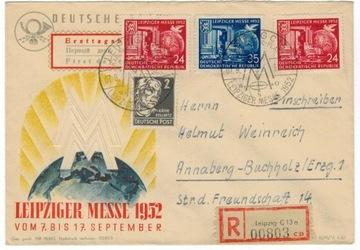 FDC Германия ГДР 1952 Мне 315-6 выставка индустрии голубь доставка товаров из Польши и Allegro на русском