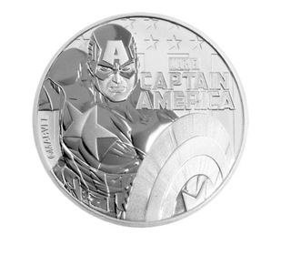 Moneta Capitan Ameryka Marvel srebro 9999 1 uncja  доставка товаров из Польши и Allegro на русском