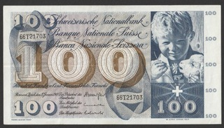 Szwajcaria 100 franków 1969 - seria 66T доставка товаров из Польши и Allegro на русском