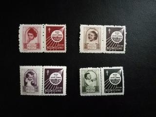 Fi 485 - 488 PW2 ** - Борьба с туберкулезом - 1948 г. доставка товаров из Польши и Allegro на русском