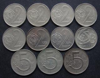 Чехословакия - 2, 3, 5 крон - 11 монет  доставка товаров из Польши и Allegro на русском