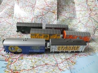 wagony towarowe szt 6 Roco i Fleischmann H0, DC доставка товаров из Польши и Allegro на русском