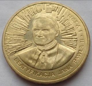 2011 Beatyfikacja Jana Pawła II papież 2 zł доставка товаров из Польши и Allegro на русском