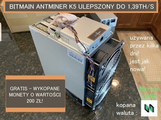 BITMAIN Antminer K5 koparka kryptowalut ulepszona  доставка товаров из Польши и Allegro на русском