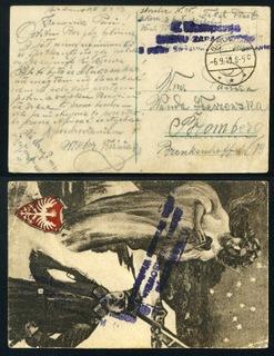 1919 Oborniki Wielkopolskie Uprising Цензура ФРАНЦИЯ  доставка товаров из Польши и Allegro на русском