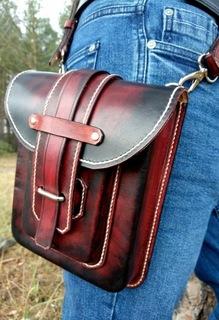 Мужская набедренная сумка, ремень, натуральная кожа  доставка товаров из Польши и Allegro на русском