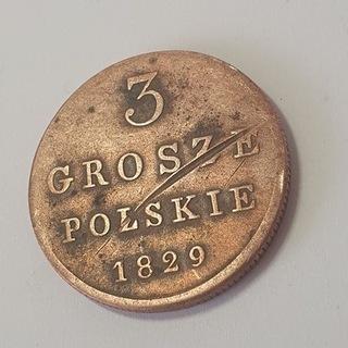 3 копейки Польские 1829 FH Царство конференц-Центр доставка товаров из Польши и Allegro на русском