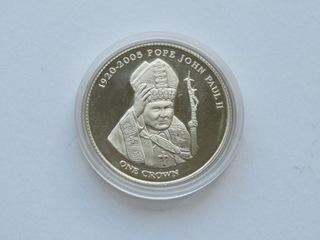 Tristan da Cunha - 1 crown 2005,   Jan Paweł II доставка товаров из Польши и Allegro на русском