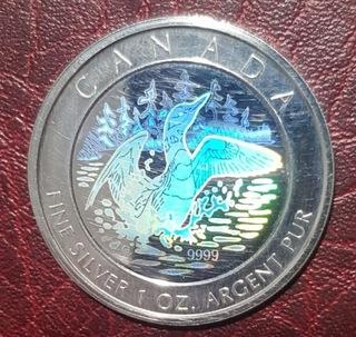 5 dolarów Canada 2002-Dzika Gęś-Hologram AG 999 доставка товаров из Польши и Allegro на русском