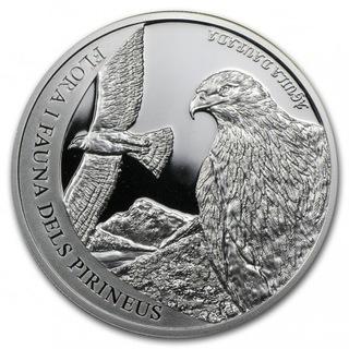 Andorra 2011 Proof Silver 5 D Pyrenees Wildlife доставка товаров из Польши и Allegro на русском