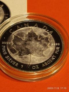 Kanadyjski liść(Moon)Księżyc1oz Srebra 9999 certyf доставка товаров из Польши и Allegro на русском