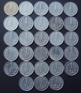 1 злотый 1949-1988 гг. Набор из 28 штук + 2 штуки доставка товаров из Польши и Allegro на русском
