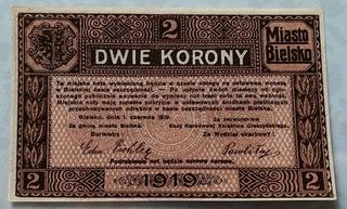 2 кроны 1919, Bielitz Бельско, Галисия, состояние И/И- доставка товаров из Польши и Allegro на русском