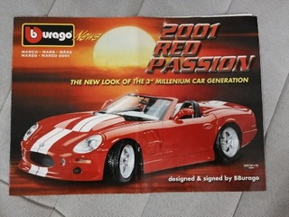 Broszura katalog bburago 2001 rok!  доставка товаров из Польши и Allegro на русском