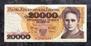 20 000 злотых 1989 - H - Св.  доставка товаров из Польши и Allegro на русском