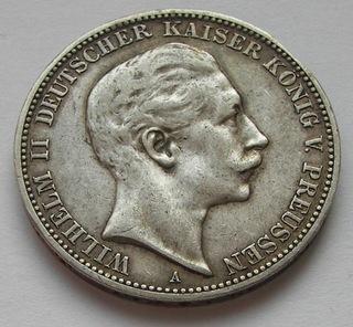 3 марки 1909 / A Пруссия - серебро  доставка товаров из Польши и Allegro на русском