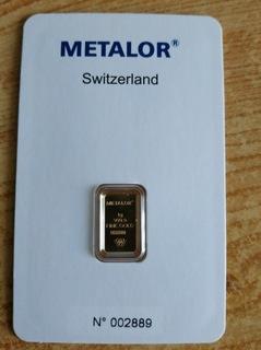 Слиток золота, 1gram Metalor LBMA от руки доставка товаров из Польши и Allegro на русском