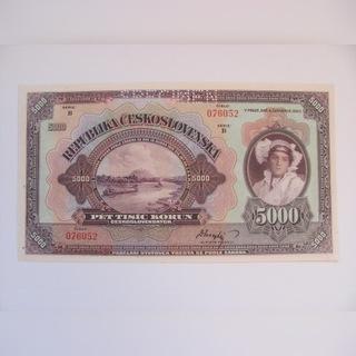 Чехословакия - 5 000 крон 1920 - редко доставка товаров из Польши и Allegro на русском