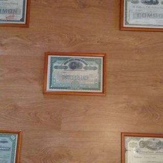 Украшение Офиса -5 Акций США Сертификаты Рамки дерево доставка товаров из Польши и Allegro на русском