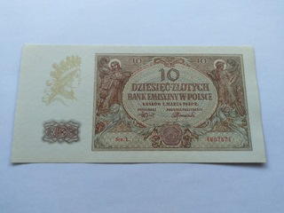 Banknot 10 zł 1940 r. SERIA L 2szt. UNC доставка товаров из Польши и Allegro на русском