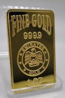 Emirates 1 OZ Fine Gold Bar złoty wzór w róże pozł доставка товаров из Польши и Allegro на русском