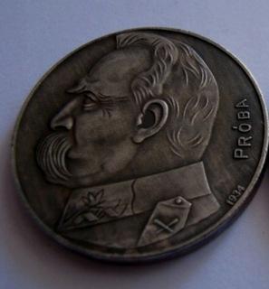 Polska 10 Złotych Józef Piłsudski z Napisem Próba  доставка товаров из Польши и Allegro на русском