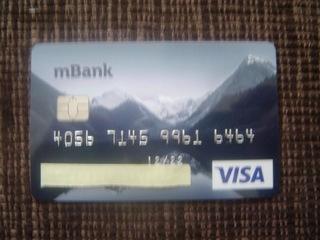 PLASTIC NEW MBANK VISA BDB COLLECTION CARD доставка товаров из Польши и Allegro на русском