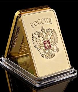CCCP płytka platerowana 24k złotem  доставка товаров из Польши и Allegro на русском