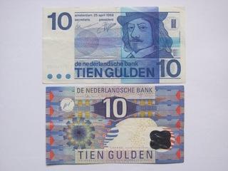 Holandia - 2 x 10 guldenów 1968 i 1997 доставка товаров из Польши и Allegro на русском