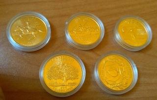 5 x 25 cent USA 1999 Stany zlocone mennica D доставка товаров из Польши и Allegro на русском