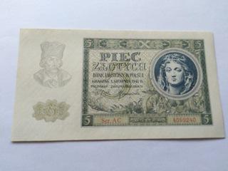 Banknot 5 zł 1941 r. seria AC 2szt. BCM доставка товаров из Польши и Allegro на русском