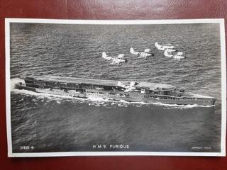 HMS FURIOUS brytyjski lotniskowiec   доставка товаров из Польши и Allegro на русском