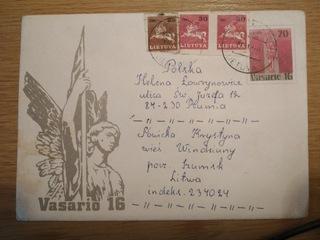 Конверт из обращения Литва 1992  доставка товаров из Польши и Allegro на русском