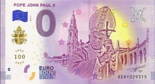 0 euro Papież Jan Paweł II edycja złota gold  доставка товаров из Польши и Allegro на русском