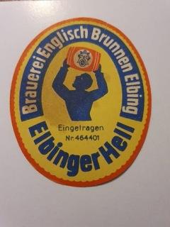 Этикетка довоенной пивоварни (Эльбинг).  доставка товаров из Польши и Allegro на русском