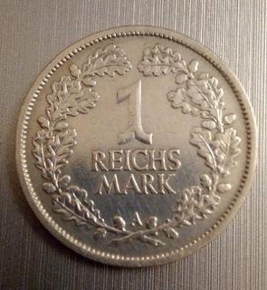 Монета 1 марка рейха 1925 г. A Германия Серебро  доставка товаров из Польши и Allegro на русском
