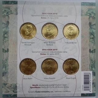 Набор из 20 крон x 6 монет, 100 лет чешским кронам доставка товаров из Польши и Allegro на русском