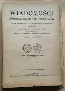 WIADOMOŚCI NUMIZMATYCZNO ARCHEOLOGICZNE ROK 1933 доставка товаров из Польши и Allegro на русском