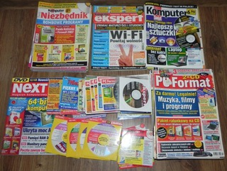 Gazety + płyty PC Format Niezbędnik Komputer Świat доставка товаров из Польши и Allegro на русском