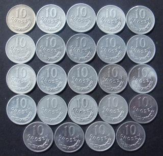 10 грошей 1949 -1985 Набор из 24 штук. доставка товаров из Польши и Allegro на русском