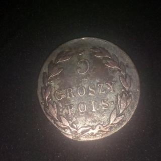 moneta srebrna pięć groszy 1819 rok доставка товаров из Польши и Allegro на русском