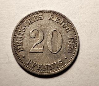 20 пфеннигов 1876 B Ag Silver  доставка товаров из Польши и Allegro на русском