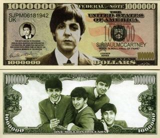 Пол Маккартни Банкнота в миллион долларов «Битлз»  доставка товаров из Польши и Allegro на русском