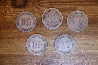 Набор 5x10 Империя пфеннинг 1874-1892 доставка товаров из Польши и Allegro на русском