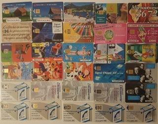 Karty telefoniczne chipowe Francja 58 szt доставка товаров из Польши и Allegro на русском