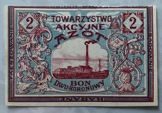 2 кроны 1919, Явожно, Азот, состояние И/И- доставка товаров из Польши и Allegro на русском