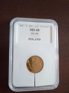 Moneta 2 zł 1978 zzm, najrzadsza Ms 68 доставка товаров из Польши и Allegro на русском