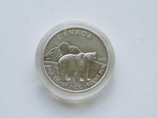 Kanada - 5 $ 2011, Niedźwiedź ,  1 uncja Ag доставка товаров из Польши и Allegro на русском