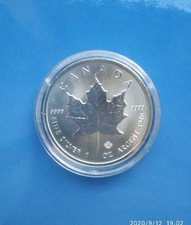 Moneta Kanadyjski Liść Klonu  1 uncja srebra 2019 доставка товаров из Польши и Allegro на русском