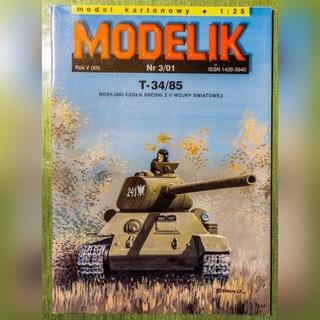 T-34/85 MODELIK Rosyjski czołg średni z II W.Św. доставка товаров из Польши и Allegro на русском